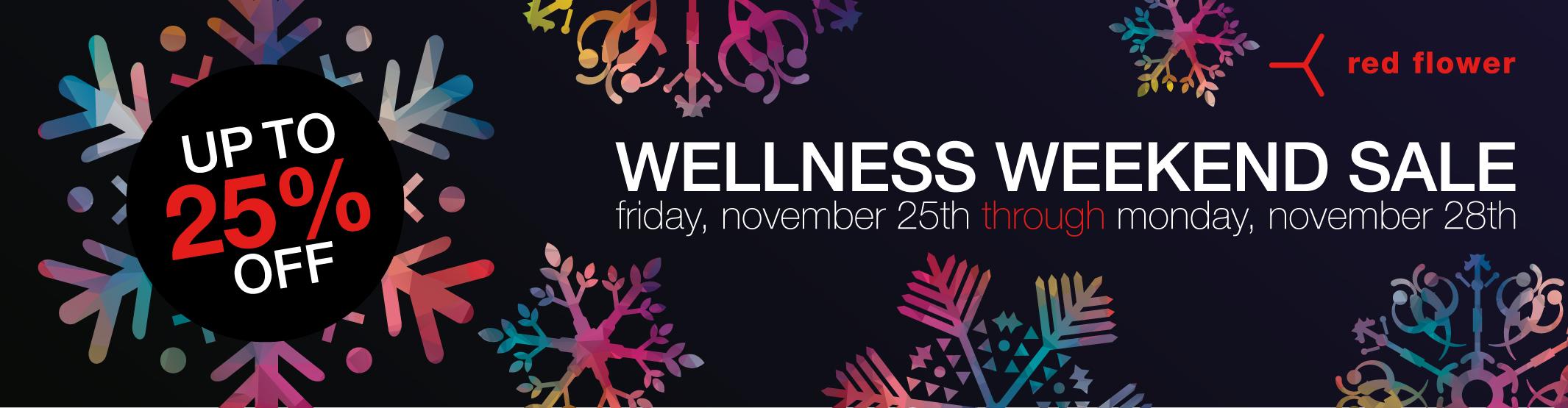 black friday wellness weekend